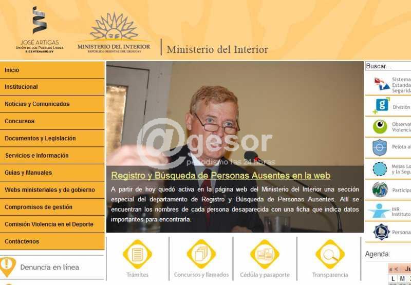 Agesor registro y b squeda de personas ausentes for Ministerio del interior pagina oficial