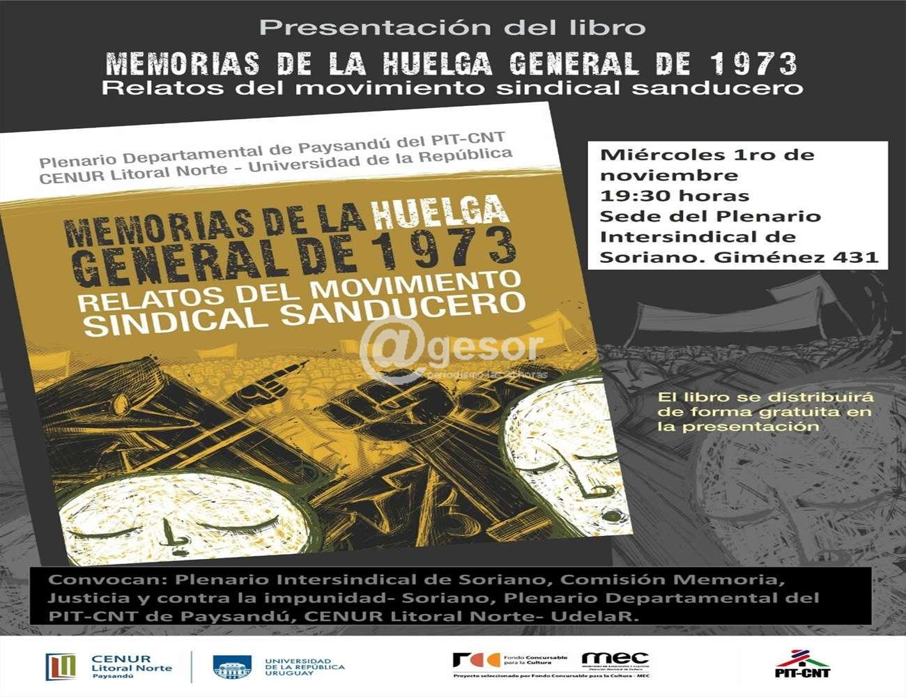 Presentarán el libro que recoge testimonios de la Huelga General de 1973 desde la visión del movimiento sindical sanducero.