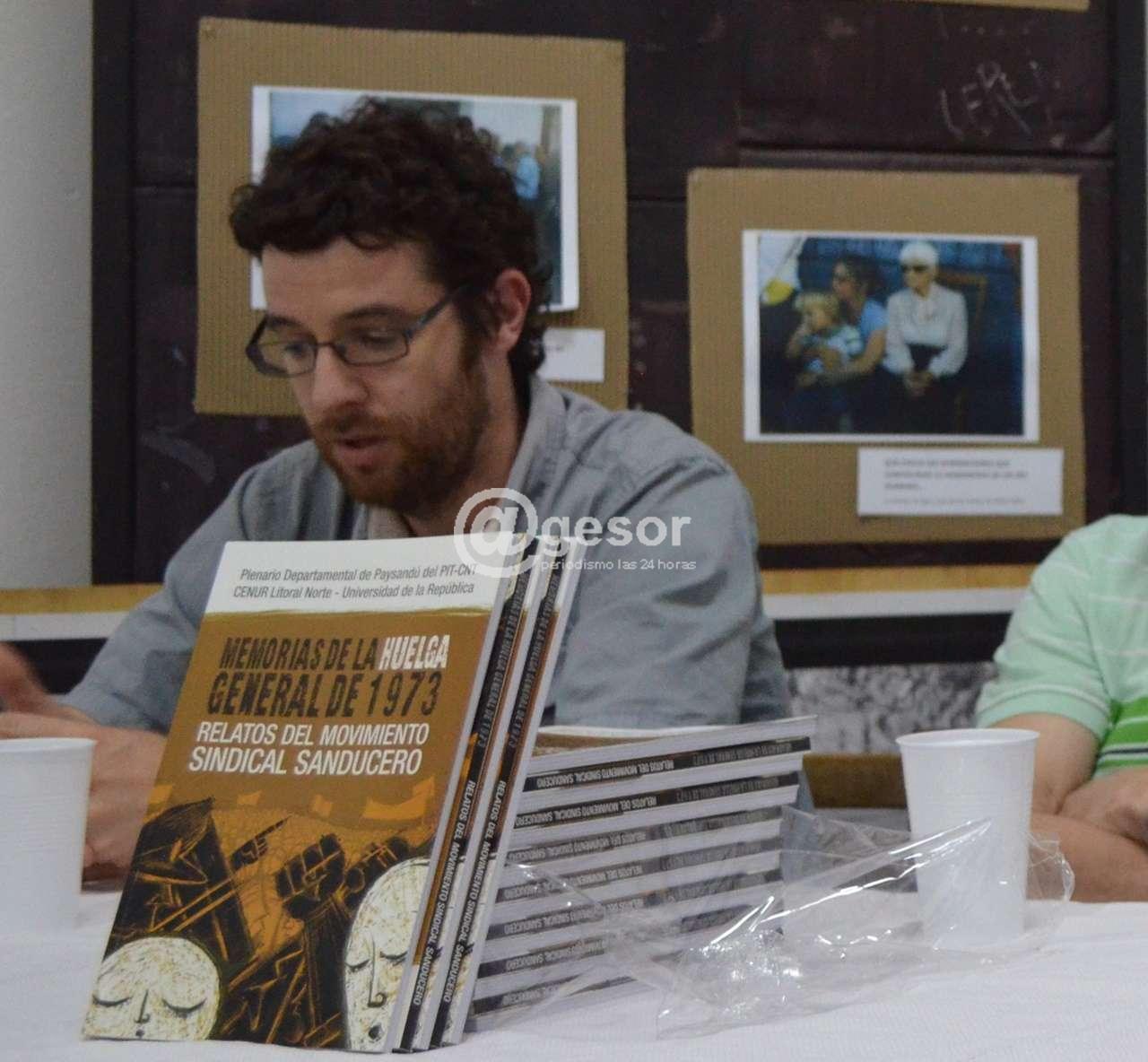 El prof. Nicolás Rodríguez comentó sobre la tarea docente en trasmitir los temas del pasado reciente a las nuevas generaciones.
