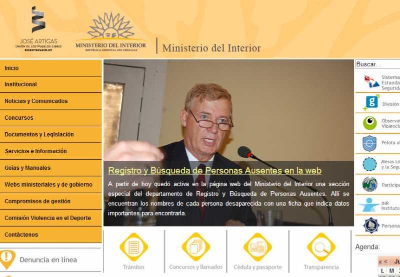 Agesor registro y b squeda de personas ausentes for Registro ministerio del interior